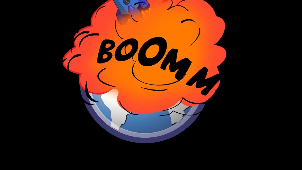 x blue salutes. Boom clipart thunder