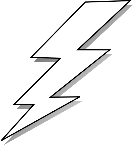 Lightning clipart comic book. Lightening black and white