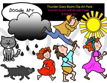 Goes clip art pack. Boom clipart thunder