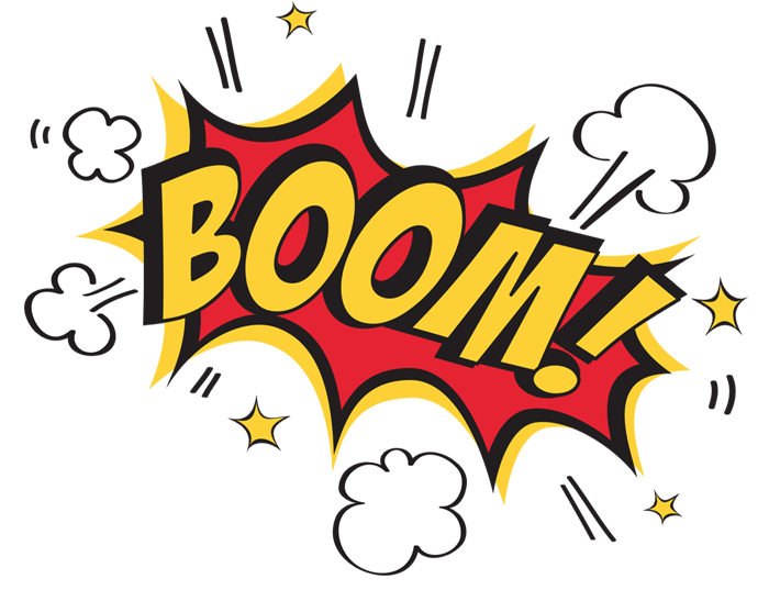 Pencil and in color. Boom clipart transparent background
