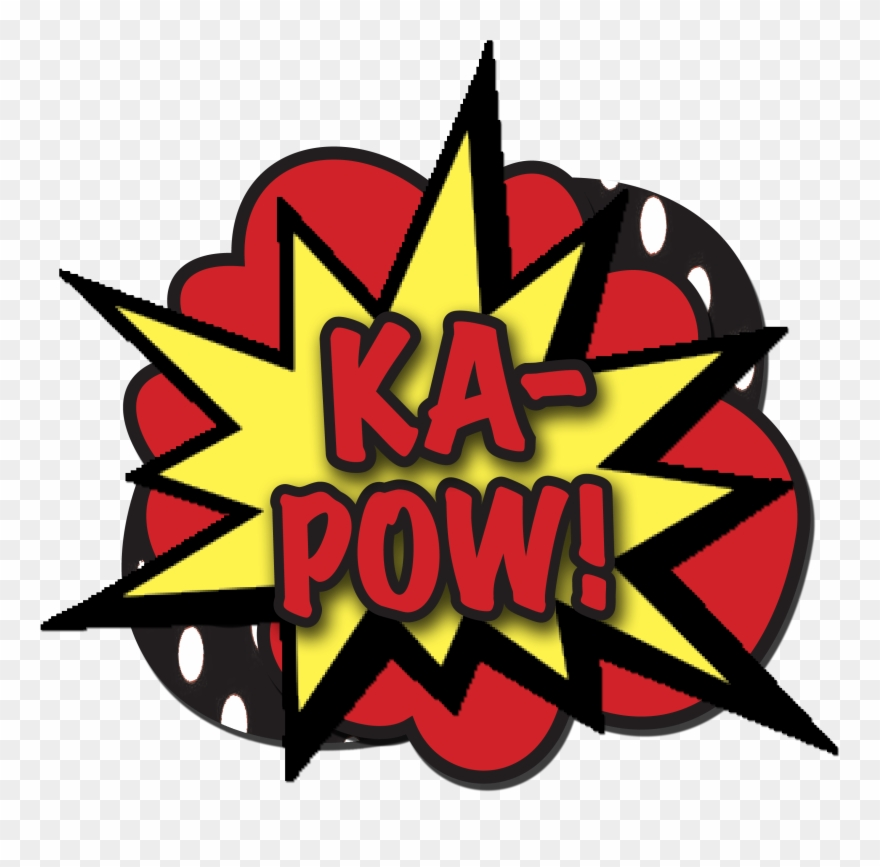 Boom clipart transparent background. The word pow