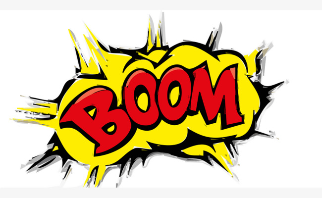 Pattern prosperity explosion sound. Boom clipart yellow