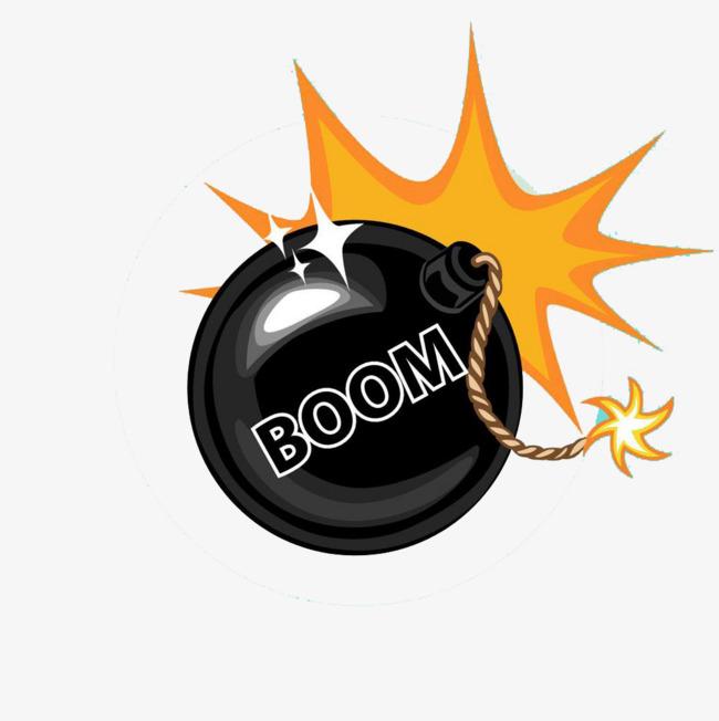 Shiny bombs black bomb. Boom clipart yellow