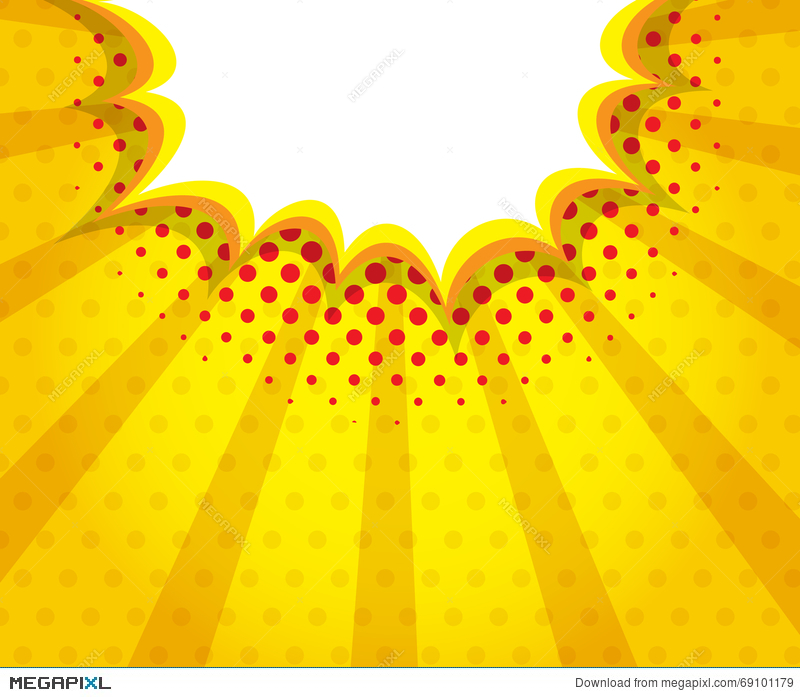 Boom clipart yellow. Abstract blank speech bubble
