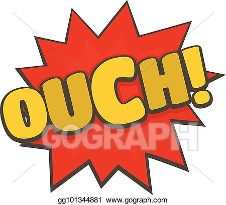 Boom clipart yellow. Vector stock comic ouch