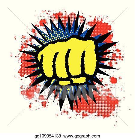 Eps illustration comic fist. Boom clipart yellow