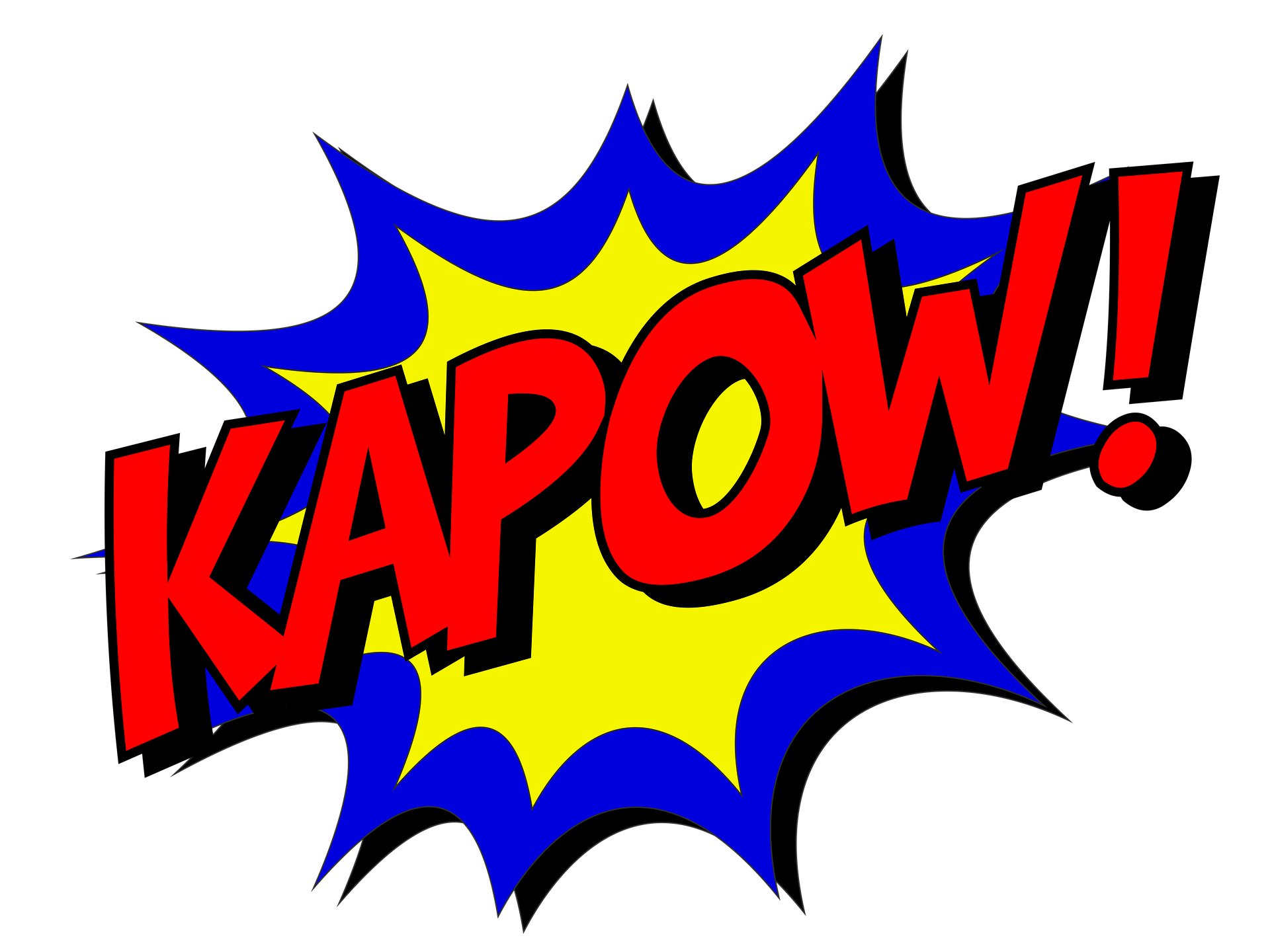 Boom clipart zap. Pow it s national