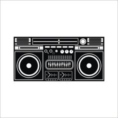 Drawing of best character. Boombox clipart