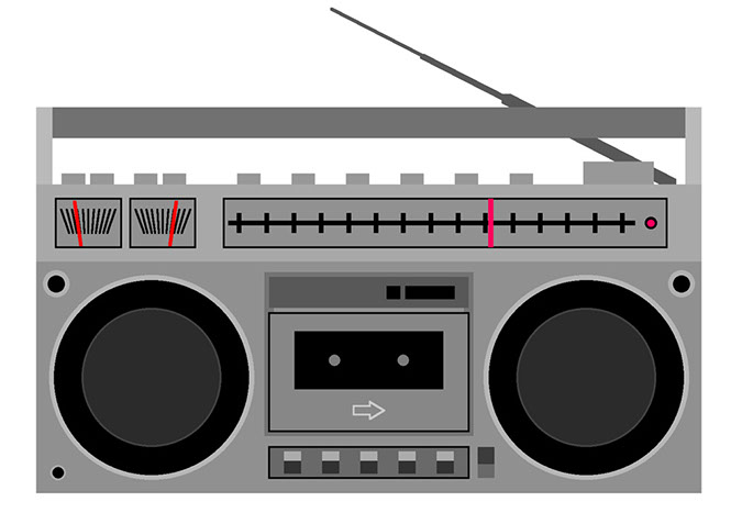 . Boombox clipart