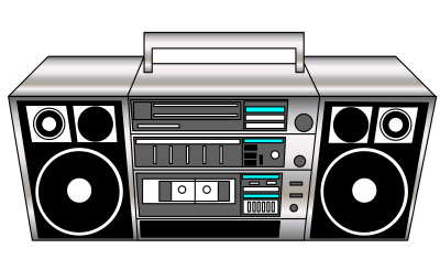 Boombox clipart animated. Glitter graphics the community