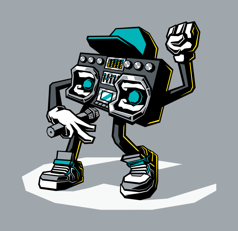 Boombox clipart beatbox. On behance