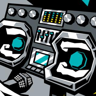 Derin ciler . Boombox clipart beatbox