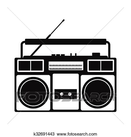 Portal . Boombox clipart black and white
