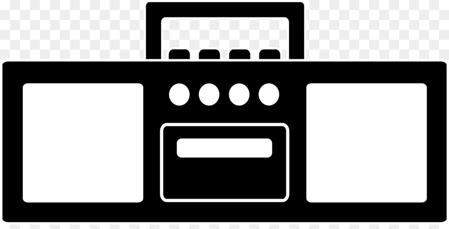 Boombox clipart black and white. Antique radio clip art