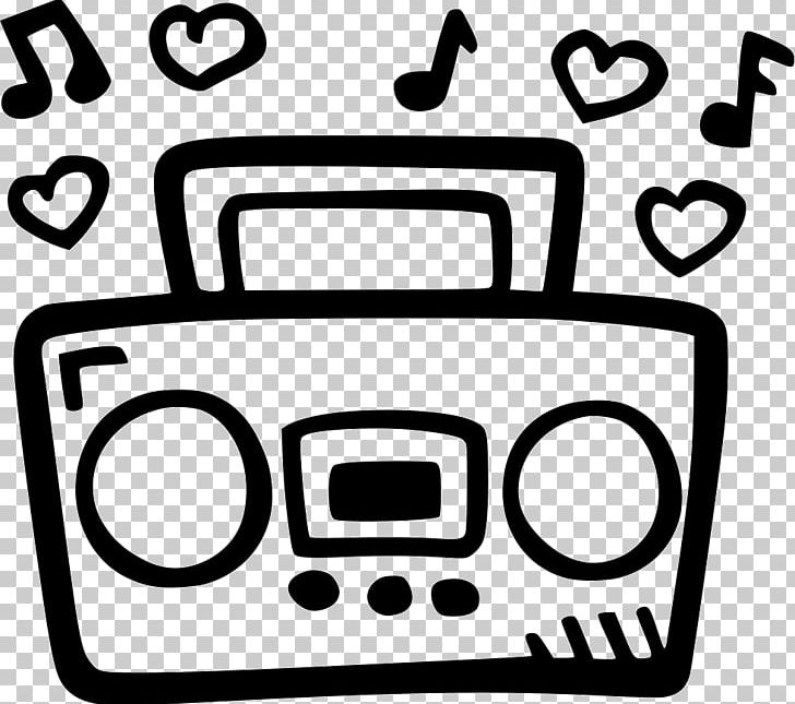 Computer icons png boom. Boombox clipart black and white