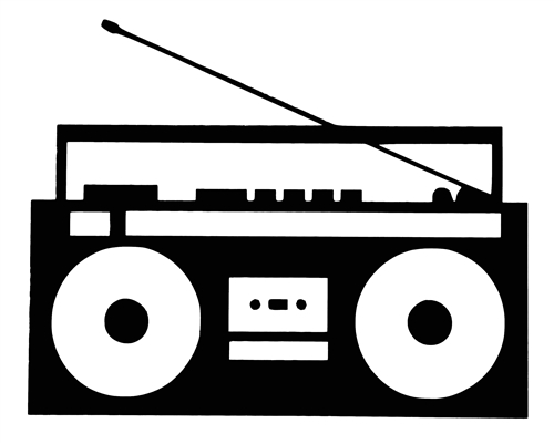 Boombox clipart black and white. Boom box free download