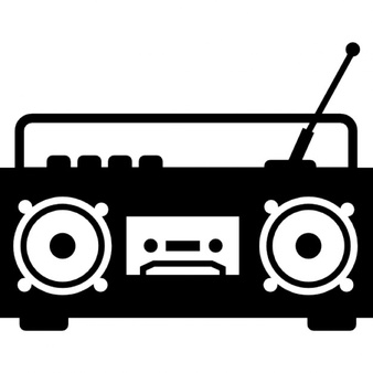 Boombox clipart black and white. Vectors photos psd files