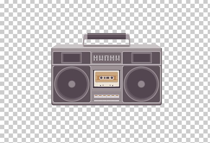 Tape recorder compact cassette. Boombox clipart cassete