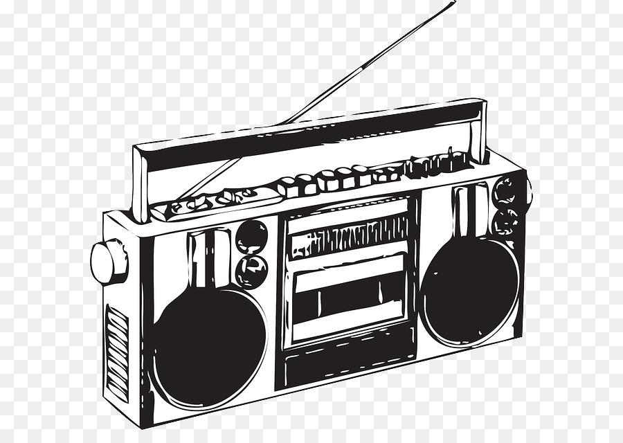 Boombox clipart cassete. Compact cassette clip art