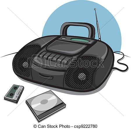 Pin on audio . Boombox clipart cd player