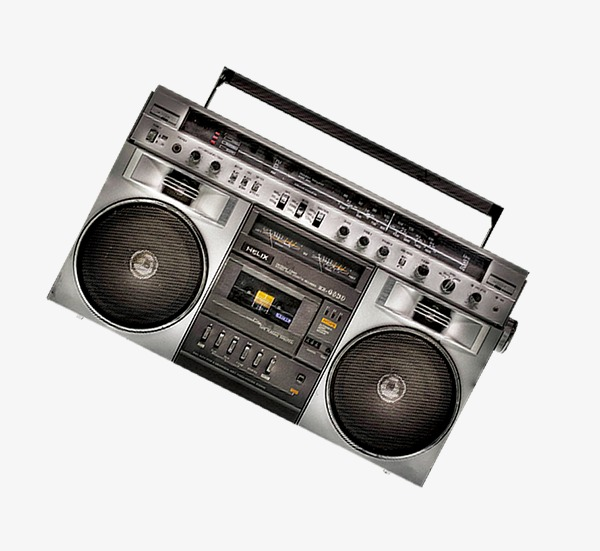 Radio vintage png image. Boombox clipart classic