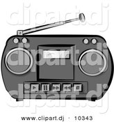 Boombox clipart classic. Royalty free stock designs