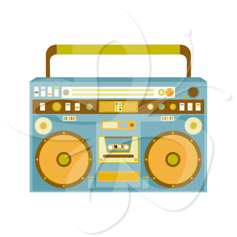Clipground. Boombox clipart classic