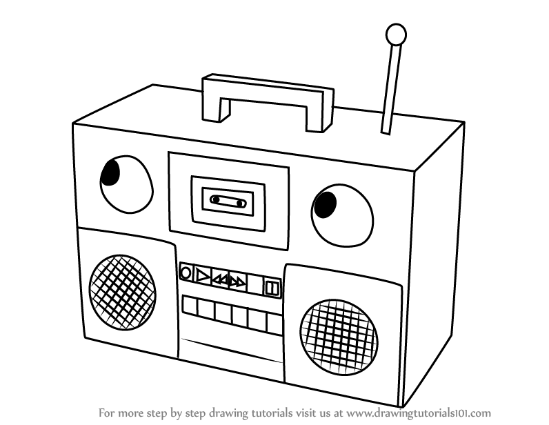 Learn how to from. Boombox clipart draw
