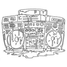 Boombox clipart draw. Drawing of best character