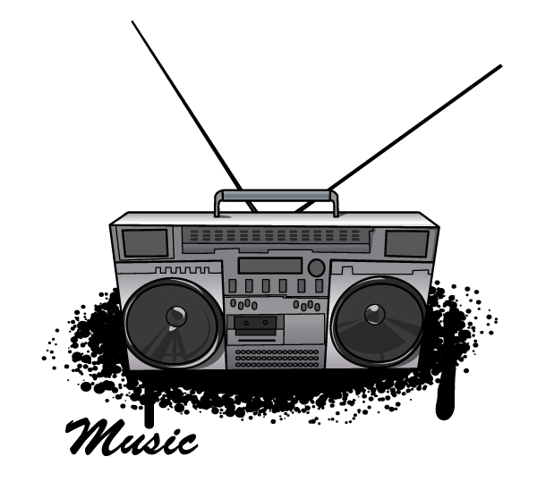 Drawing clip art png. Boombox clipart draw