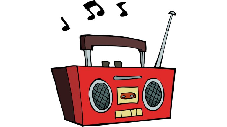 Seaside heights bans music. Boombox clipart loud radio