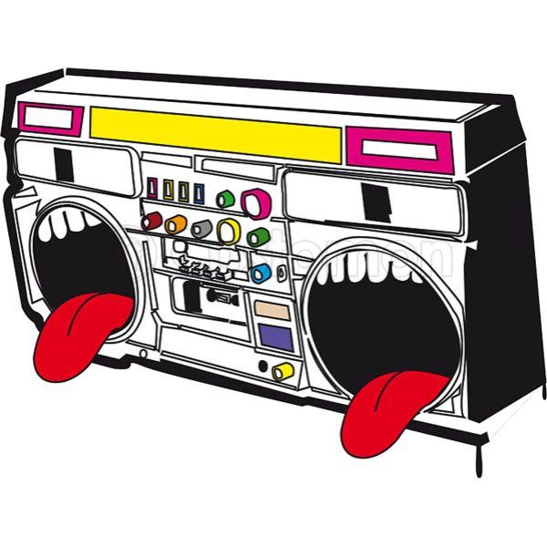 Hip hop speedy tee. Boombox clipart loud radio