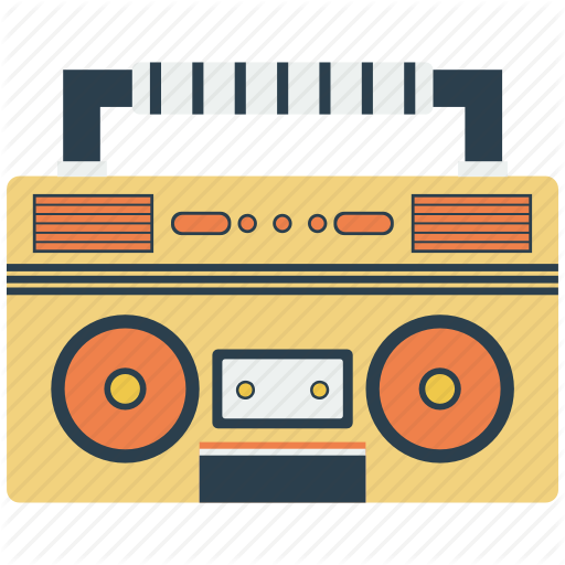 Music icon search engine. Boombox clipart loud radio