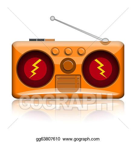 Stock illustration gg gograph. Boombox clipart loud radio
