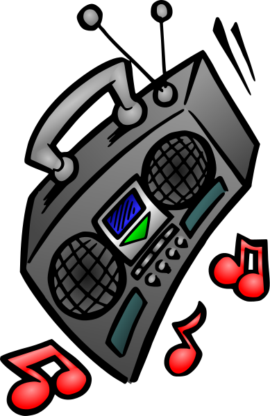 Boombox clipart loud radio. Clip art images gallery