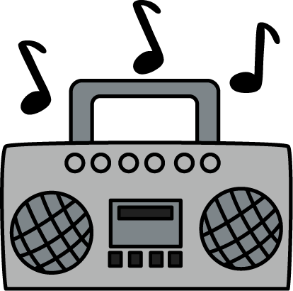 Radio clip art images. Boombox clipart music player