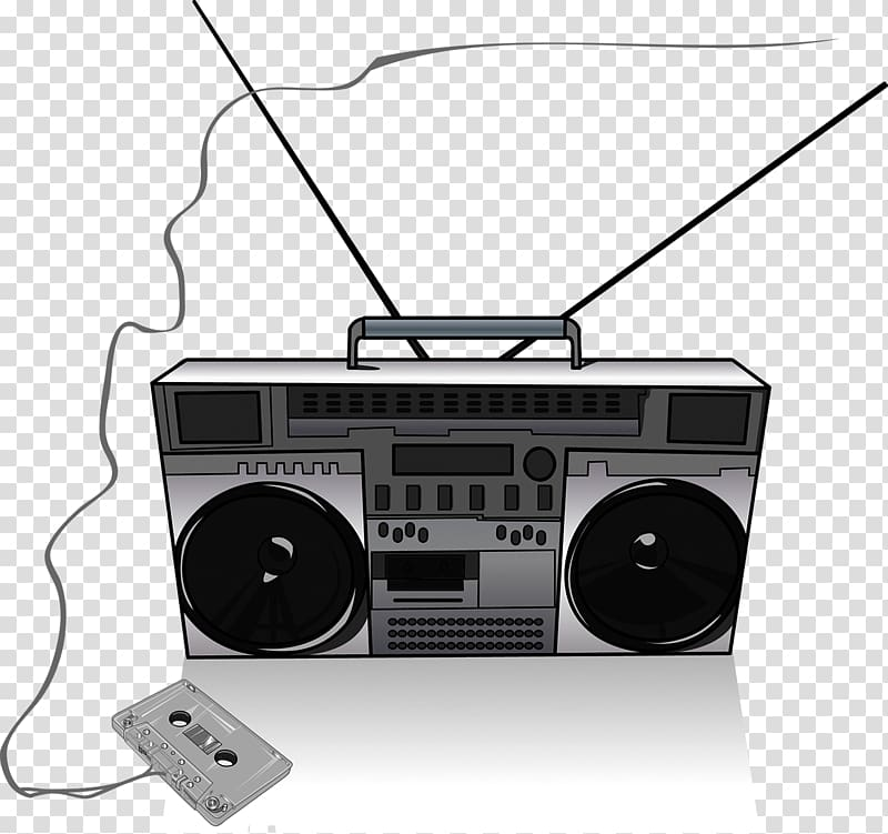 Drawing radio painting transparent. Boombox clipart music player