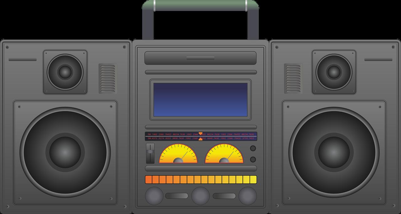 Boombox clipart music player. Ghetto blaster audio cd