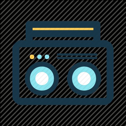 Boombox clipart music player. Audio beach essentials icon