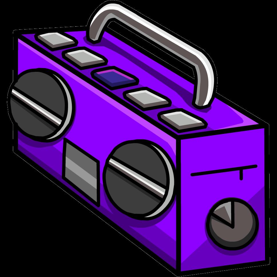 Boombox purple