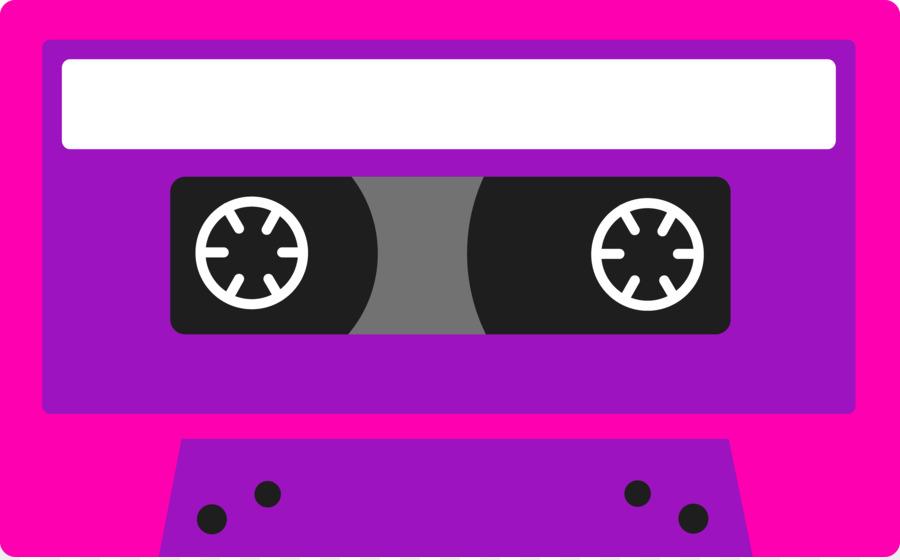 80's clipart tape recorder.  s compact cassette