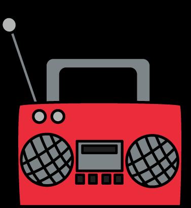Boombox clipart radio music. Clip art cassette player