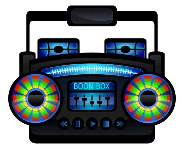 Boombox clipart radio music. Boom box listen png