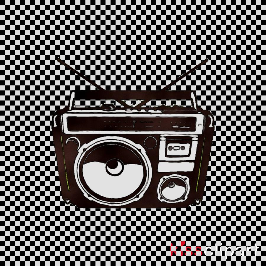 Tape drawing technology . Boombox clipart radio music