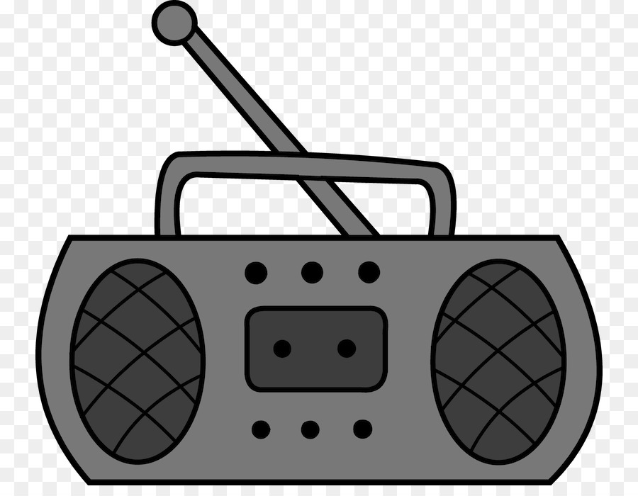 Golden age of antique. Boombox clipart radio music