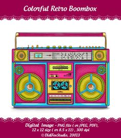 Boombox clipart retro. Note to self find