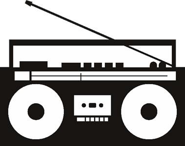Boombox clipart silhouette. Cliparts suggest vectors