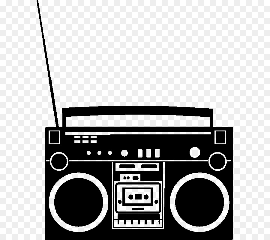 Boombox clipart silhouette. Free download clip art