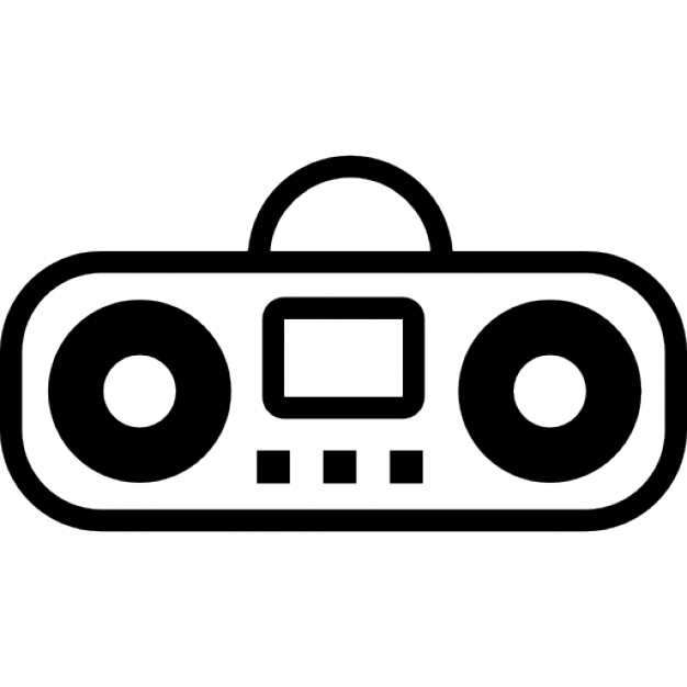 Boombox clipart simple. Cartoon variant icons free