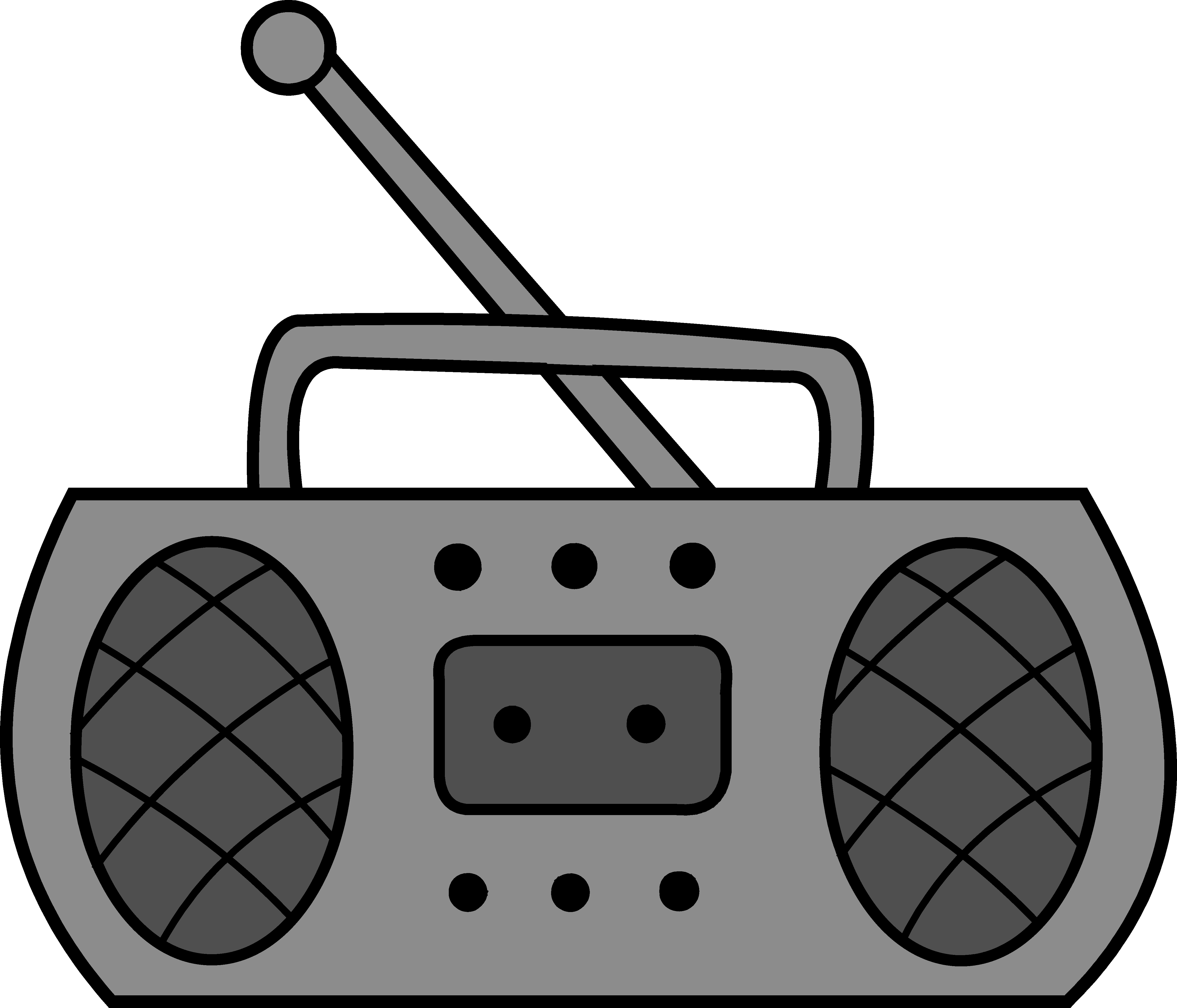 Boombox clipart simple. Cute radio design free